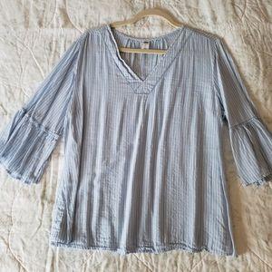 Old Navy pinstripe blouse